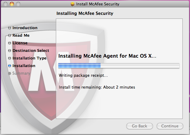 Mcafee updation on ios system